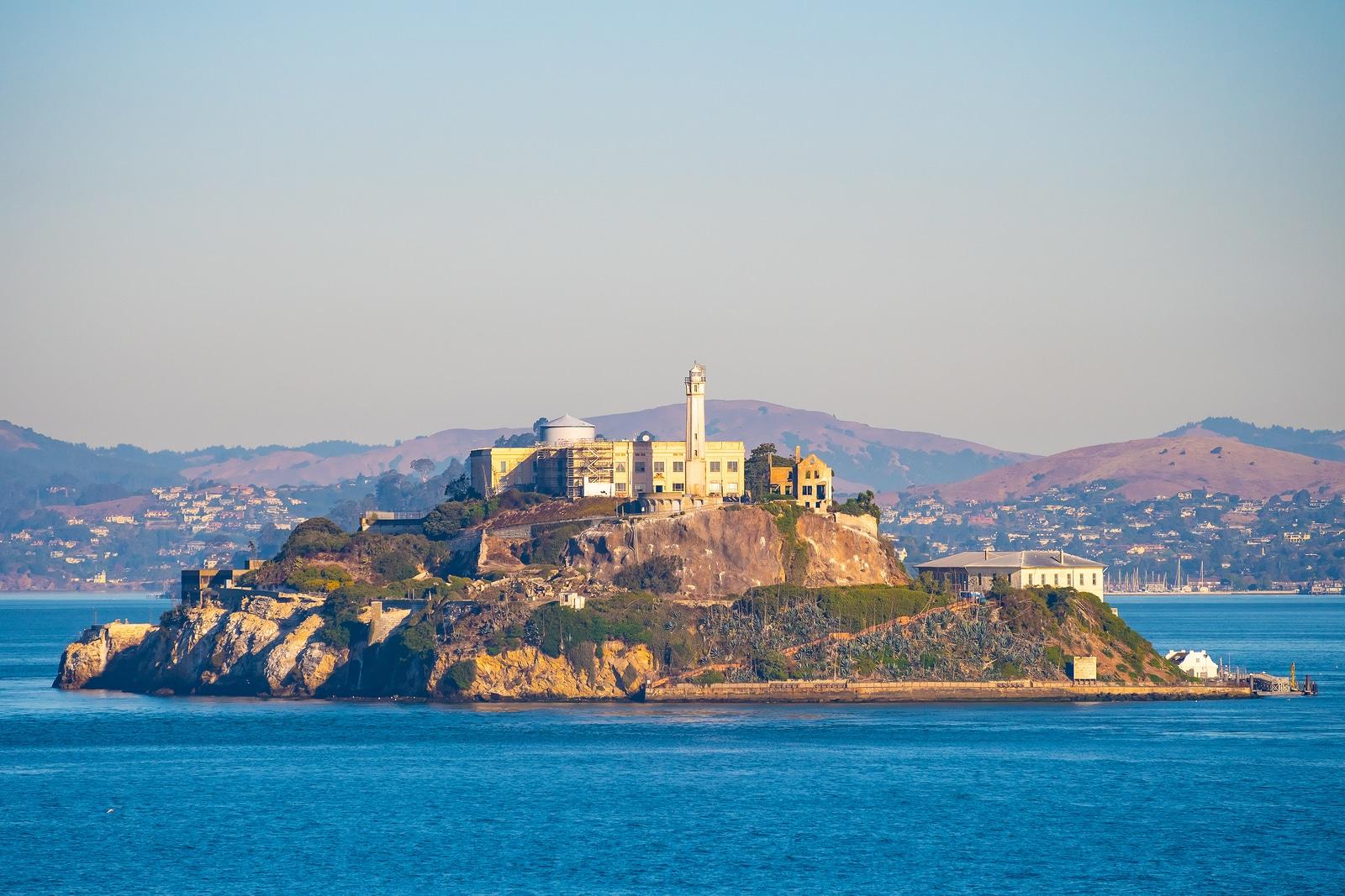 Alcatraz Prison Island in San Francisco Bay