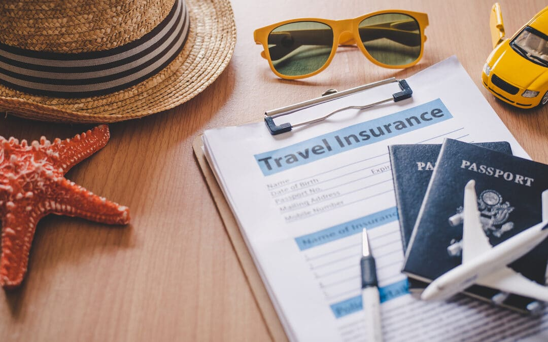 Travel insurance documents to help travelers feel confident in travel safety by Booking Express Travel